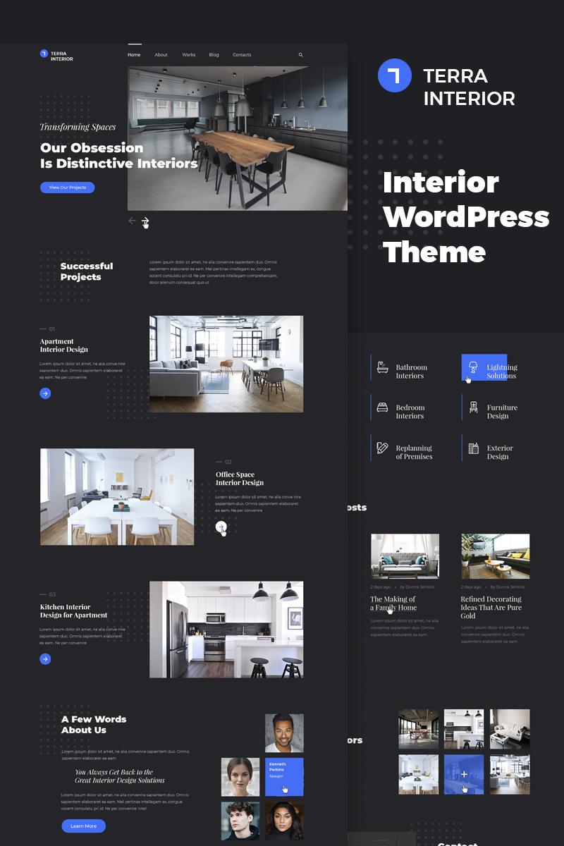 Terra Interior Interior Design Wordpress Theme 67238