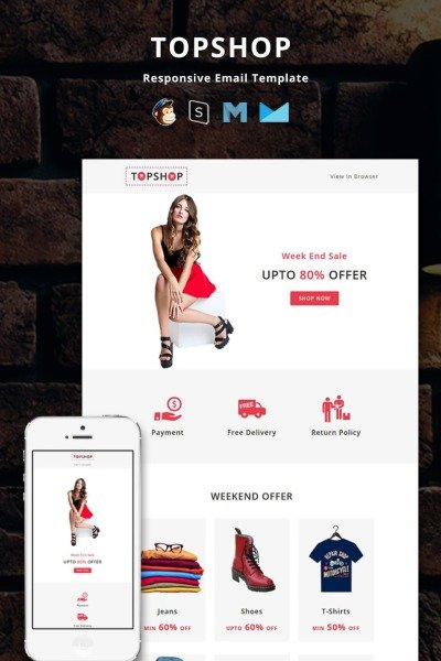 Topshop  Responsive Email Newsletter Template