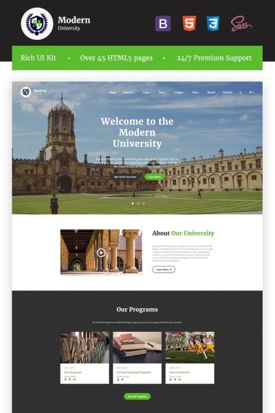 Responsive Website Vorlage für Universität