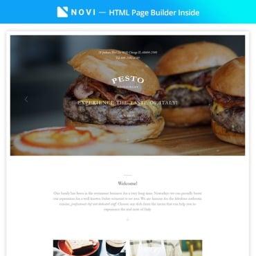 Preview image of Pesto - Elegant Restaurant Template Compatible with Novi Builder