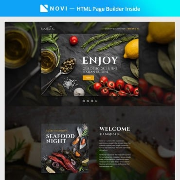 Preview image of Majestic - Responsive Restaurant Template Compatible with Novi Builder