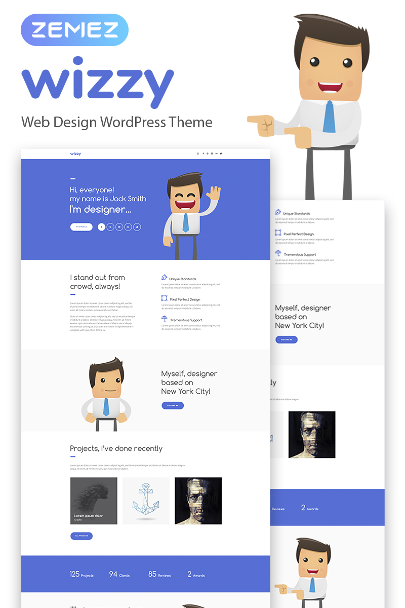 Website Design Template 67375 Promotion Responsive 404 Ful