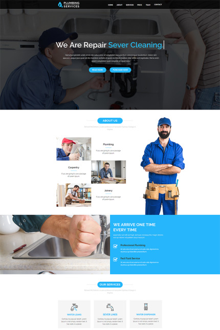 Website Design Template 67389 - construction constructor contractor corporate industry metal painter plumber plumbing remodeling renovation roofing