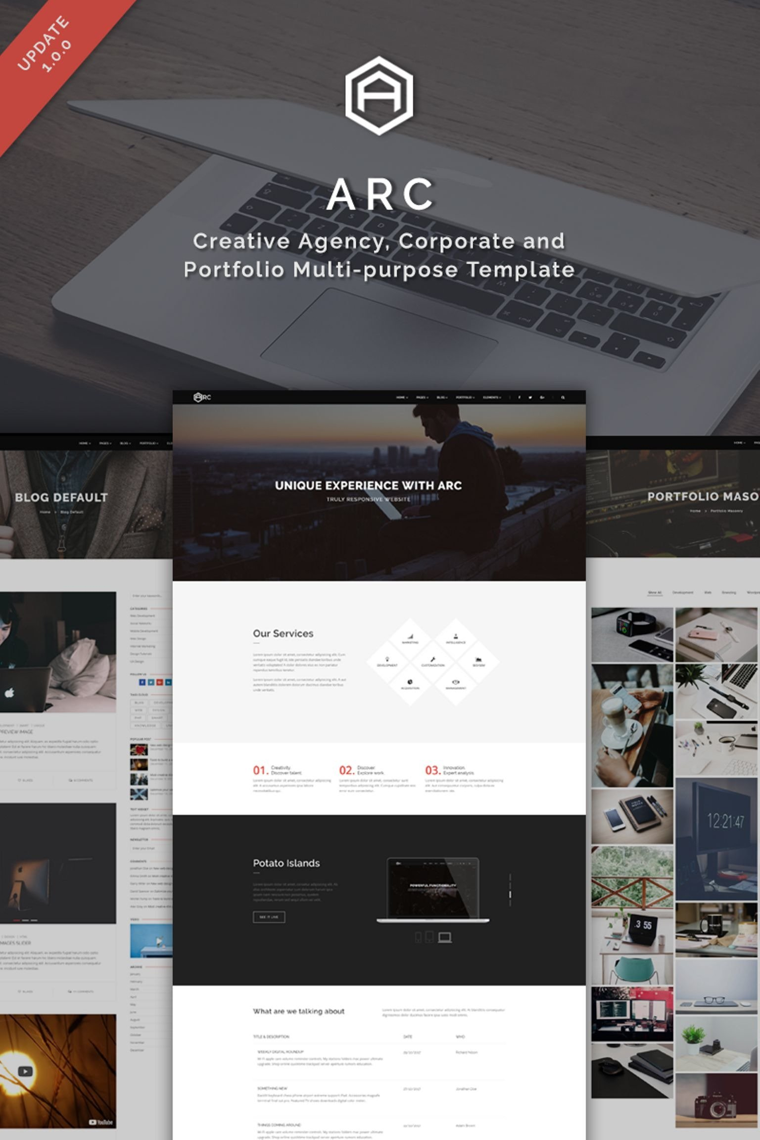 ARC - Creative Agency, Corporate and Portfolio Multi-purpose Screenshot