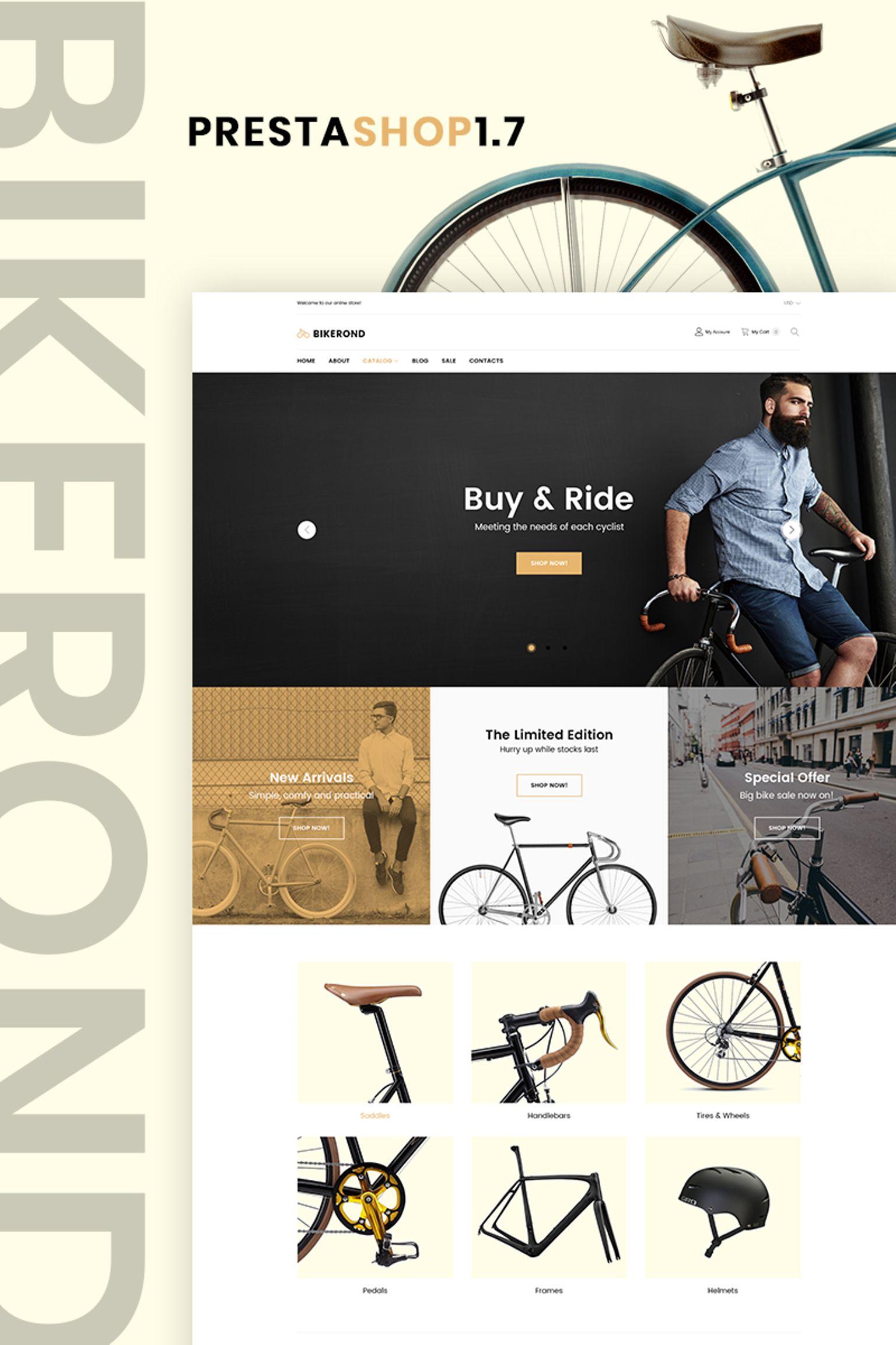 """BikeRond - Bike Shop"" thème PrestaShop adaptatif #67372"