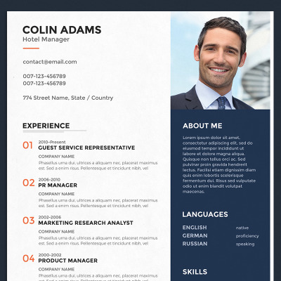 colin adams hotel manager resume template 67388