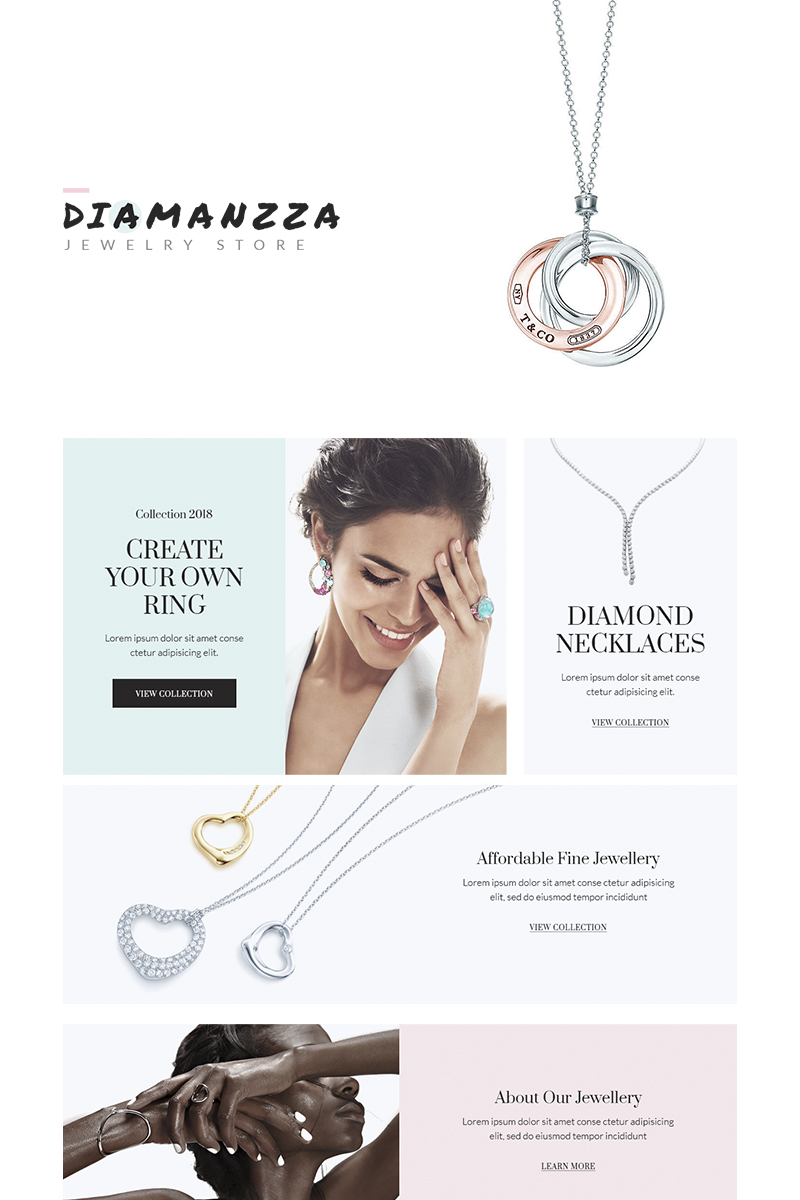 Diamanzza - Jewelry Store WooCommerce Theme