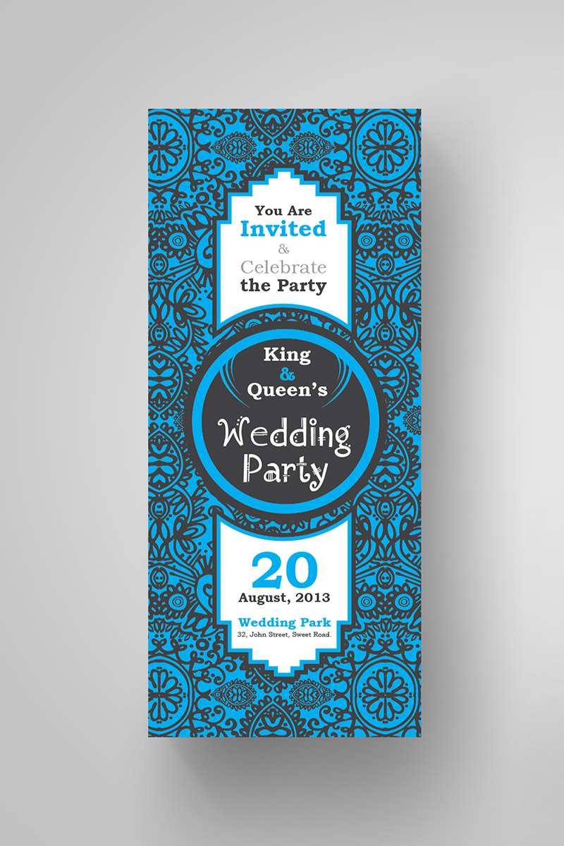 Floral Wedding Invitation Card Design Corporate Identity Template