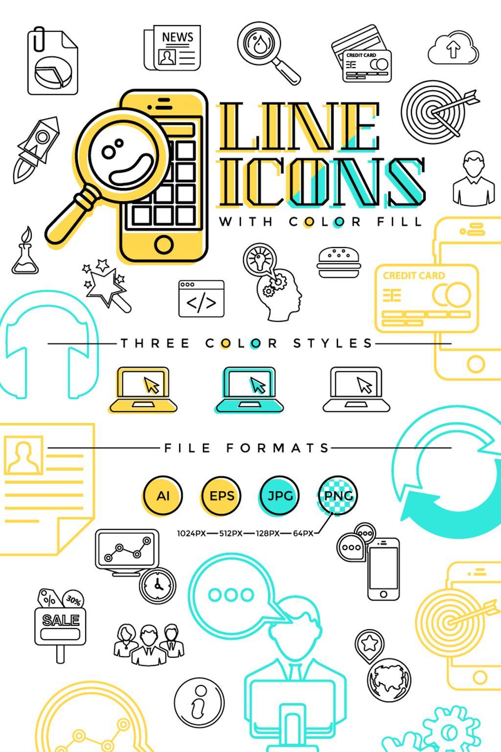 """Icon-Sammlungen Vorlage namens """"Line"""" #67312"""