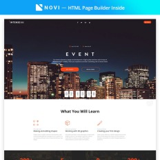 Event Planner Responsive Landing Page Template #58491