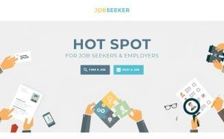 Jobseeker - Vacancy Service with Novi Builder Landing Page Template