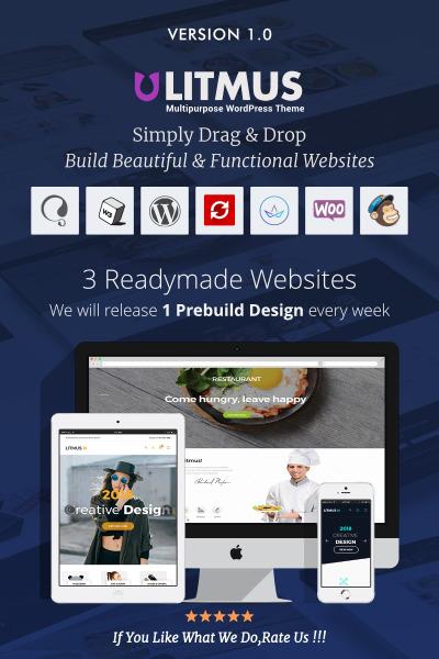 Litmus - Creative Multipurpose WordPress Theme #67369
