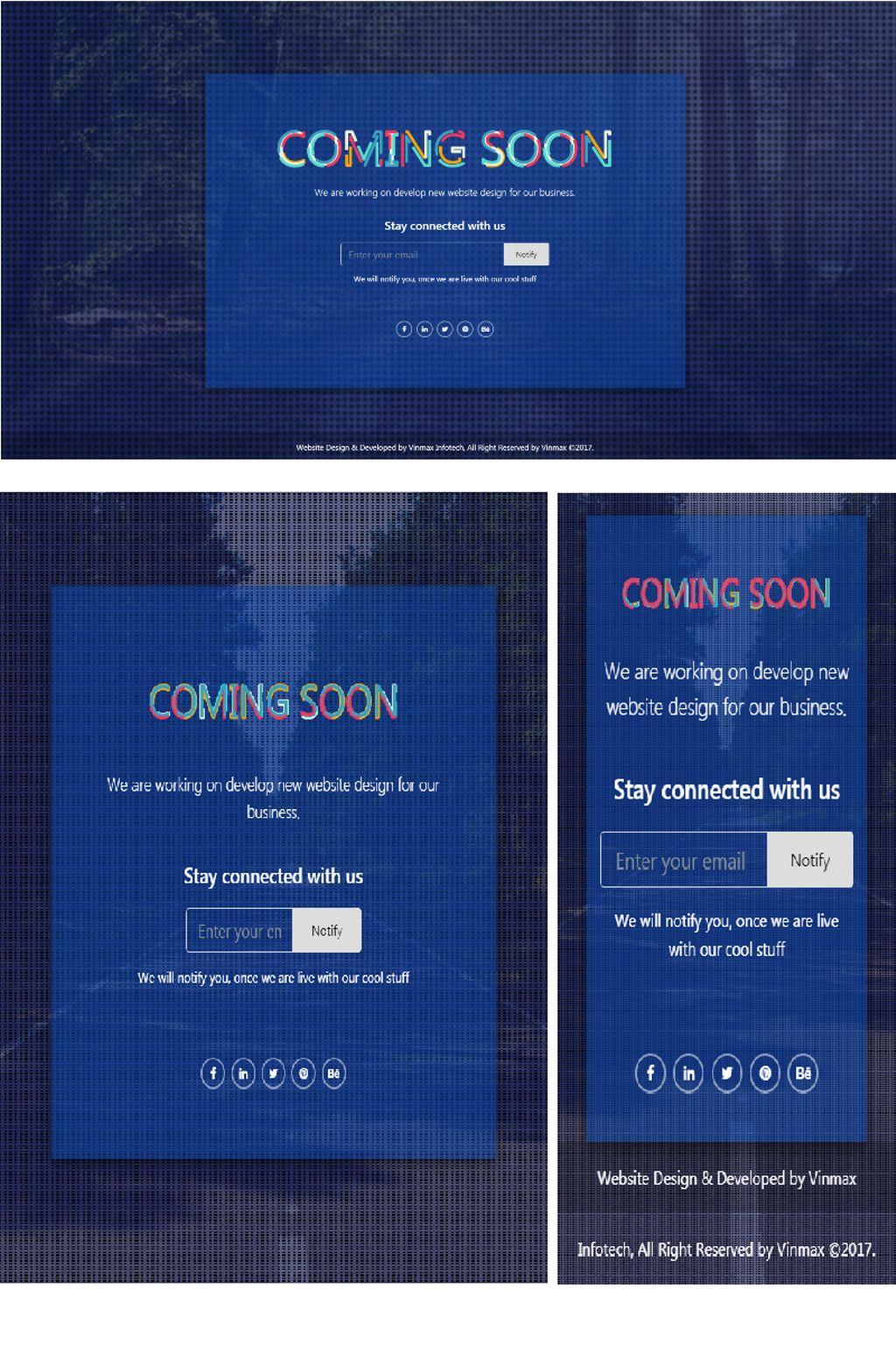 """Max Coming Soon Page - Bootstrap 4 Responsive HTML"" page de spécialité adaptatif #67311"
