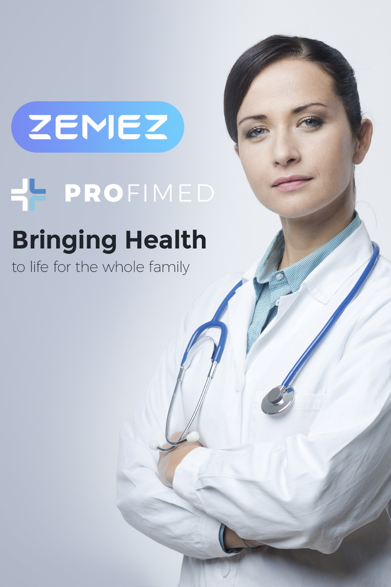 "Modello WordPress #67307 ""Profimed - Medical Website"" - screenshot"