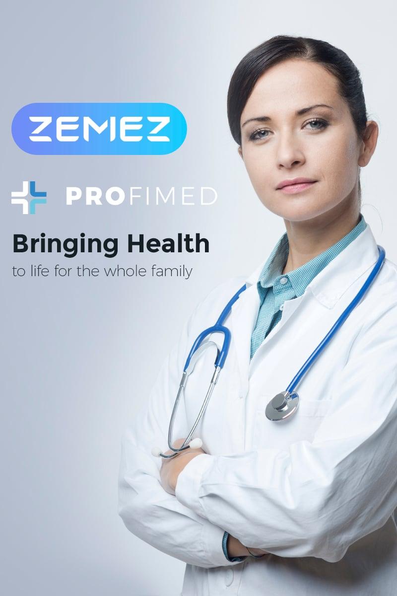 Profimed - Medical Website WordPress-tema #67307 - skärmbild