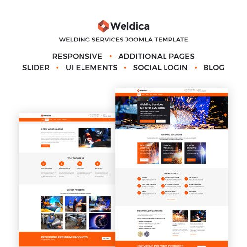 Weldica - Welding Services - Joomla! Template based on Bootstrap