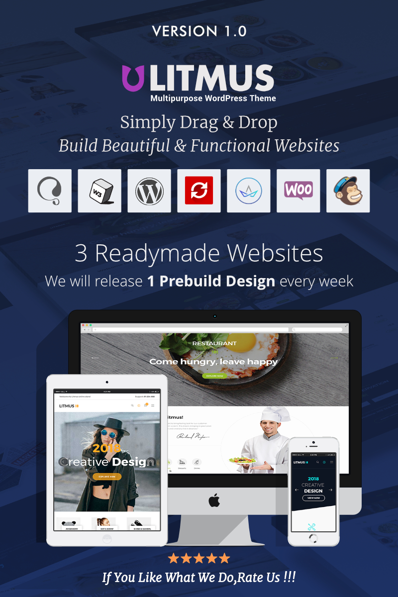 "WordPress Theme namens ""Litmus - Creative Multipurpose"" #67369"