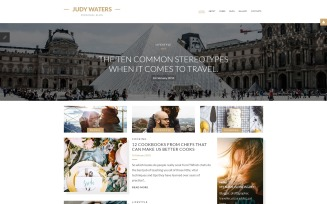 Judy Waters - Personal Blog Joomla Template
