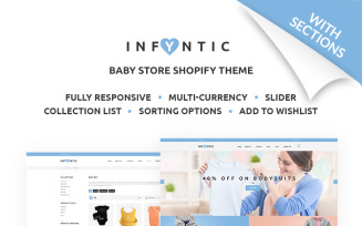 INFYNIC - Calm Baby Clothing Online Shop Shopify Theme