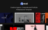 Bootstrap Great - Creative Agency, Corporate and Portfolio Multipurpose Web Sitesi Şablonu