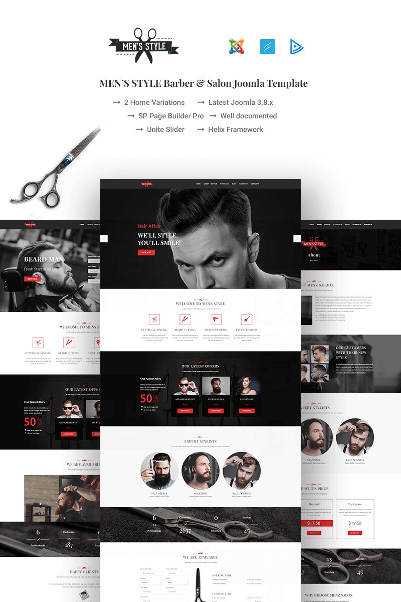 Bootstrap szablon Joomla MenzStyle - Barber & Salon #67459