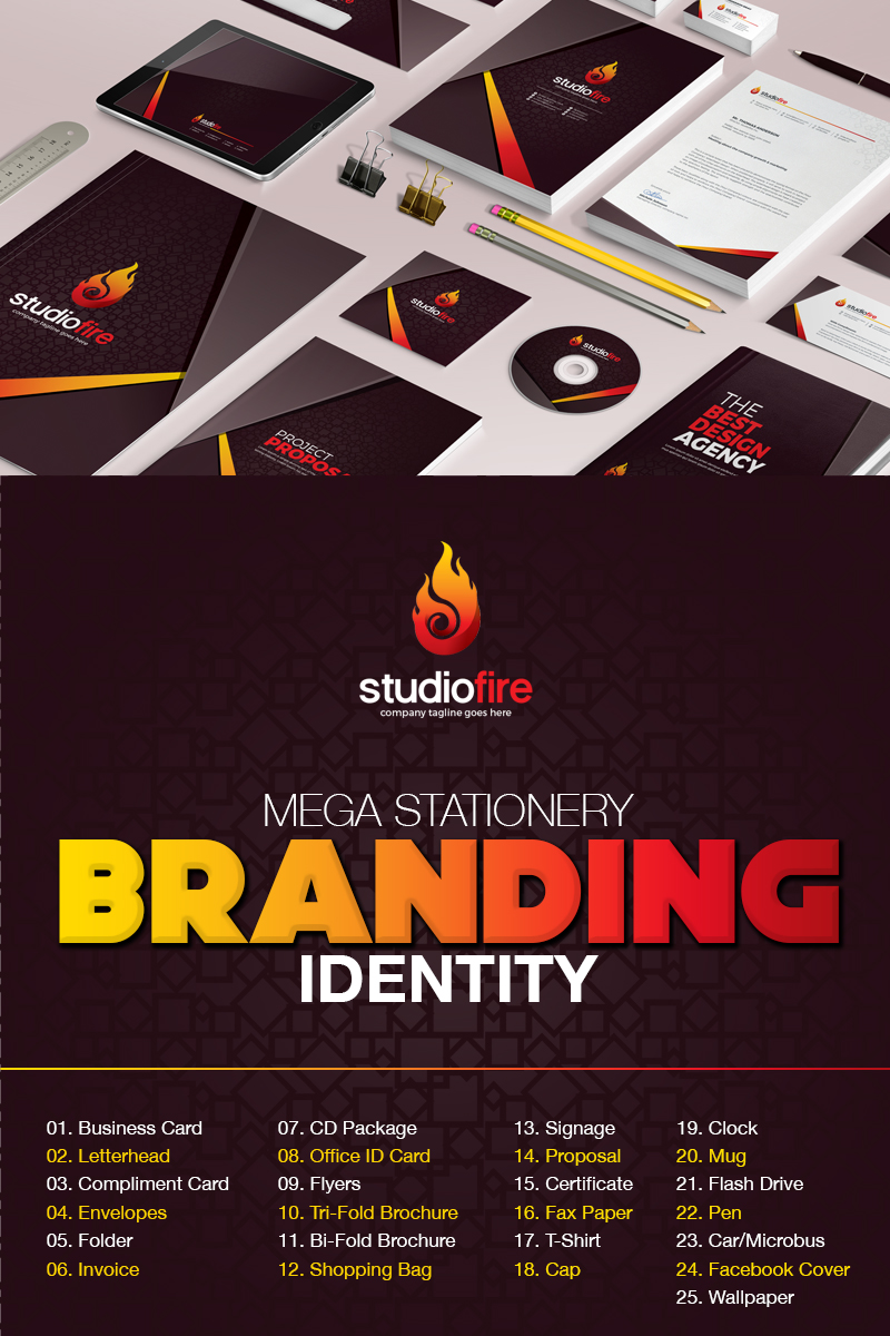 """""""Branding  Design -"""" - Шаблон фірмового стилю №67425"""