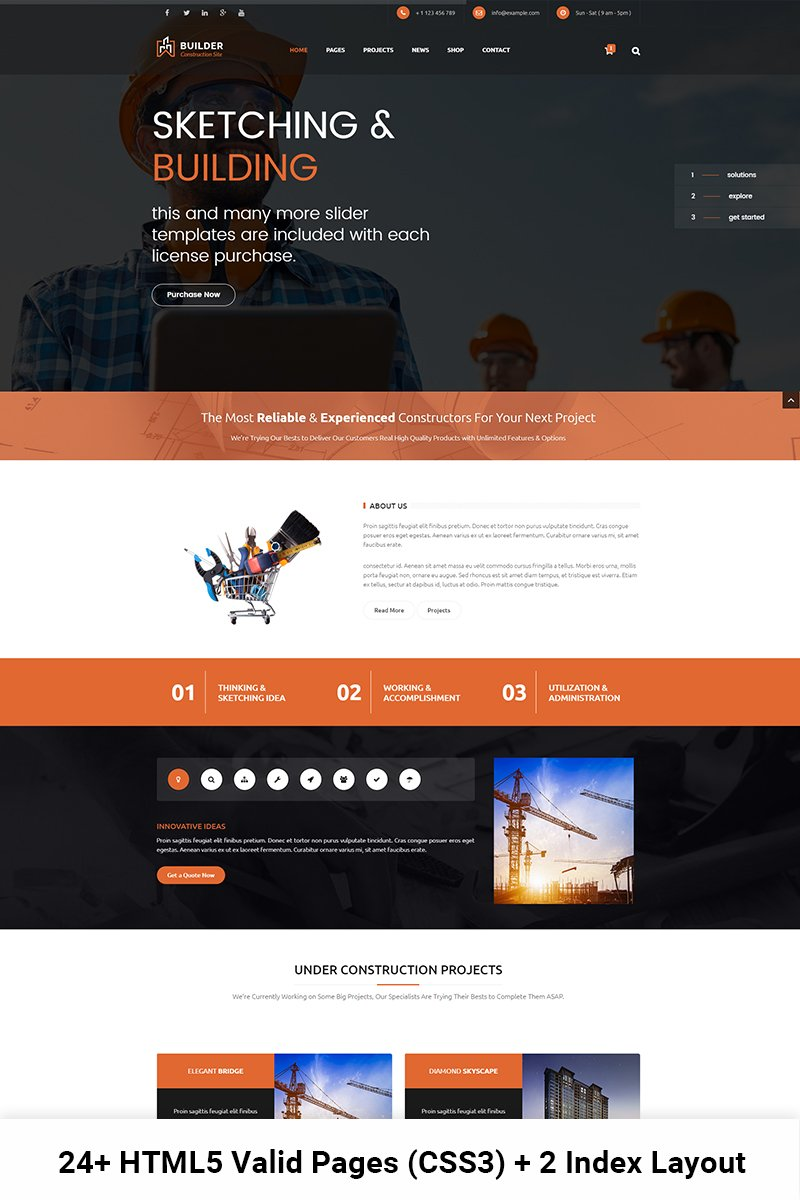 website templates builder