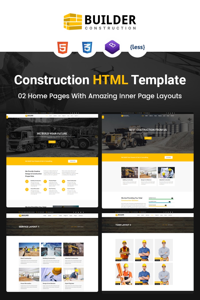 Builder - Construction Company HTML Website Template - screenshot