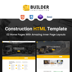 Building Materials Website Template - Website template builder