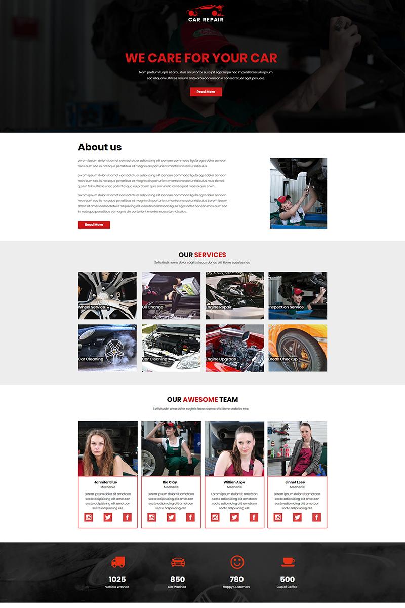 """""""Car Repair"""" modèle Unbounce  #67447"""
