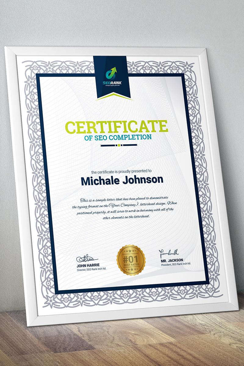 """""""Completion -"""" modèle de certificat  #67452"""