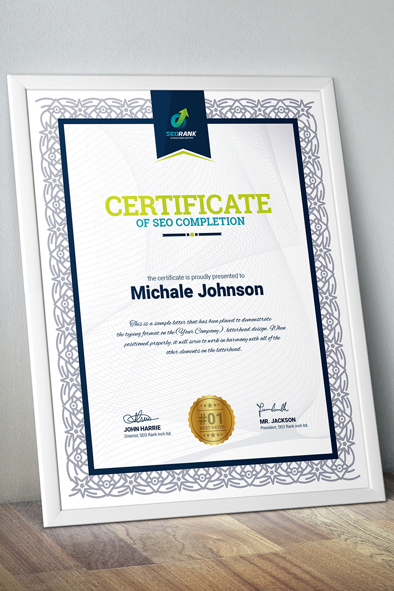 Completion - Certificate Template 67452