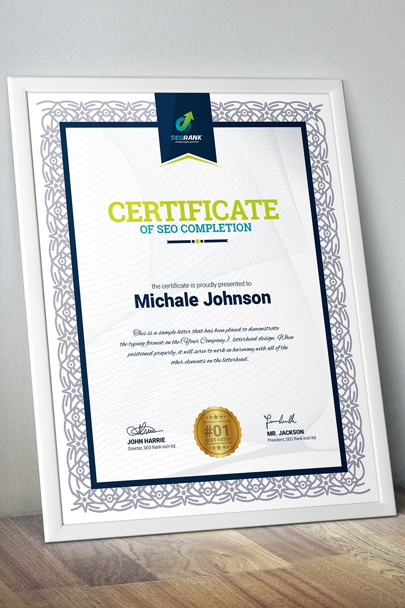 Completion certificate template 67452 yelopaper Images