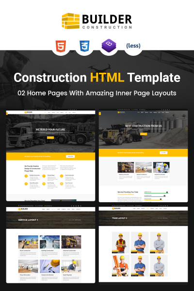 "HTML шаблон ""Builder - Construction Company HTML"" #67461"