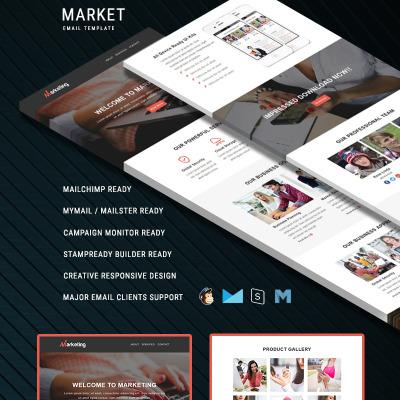 Business responsive newsletter template 55166 maxwellsz