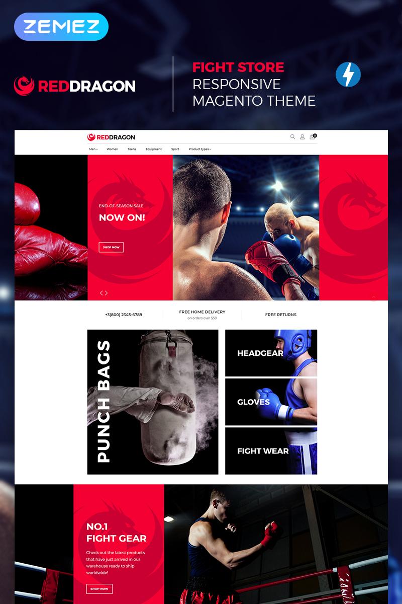 "Modello Magento Responsive #67400 ""RedDragon - Martial Arts Shop"""