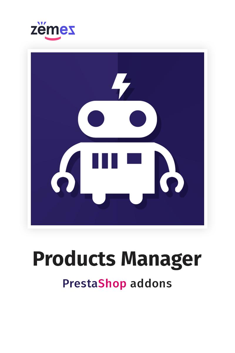 """Modello Modulo PrestaShop #67412 """"Products Manager"""""""
