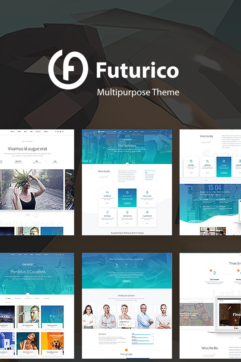 """Modello WordPress Bootstrap #67457 """"Futurico - Creative Multipurpose"""""""
