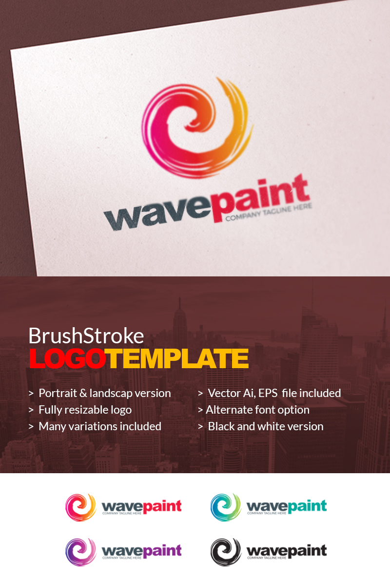 Paint Brush Color - Logo Template