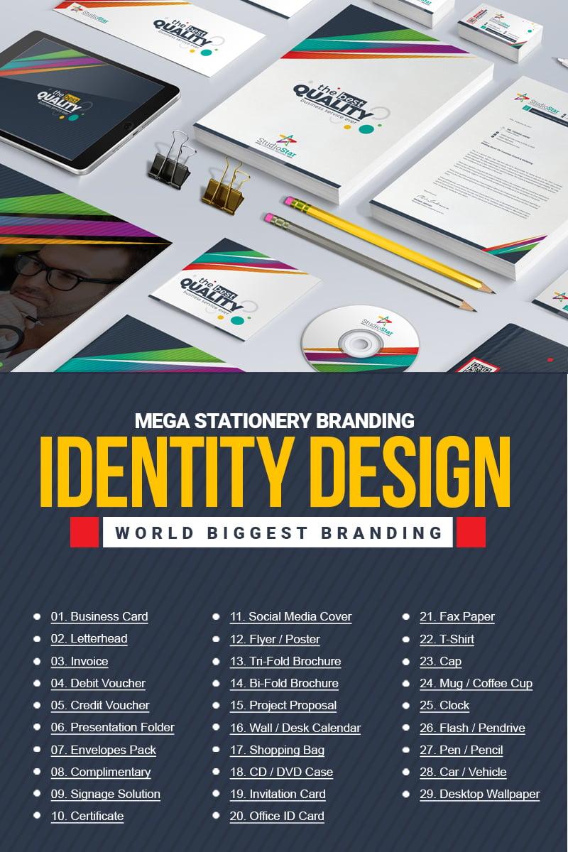 """Plantilla De Identidad Corporativa """"Stationery Mega Branding -"""" #67424"""