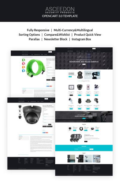 Responsive Plantilla OpenCart #67437 para Sitio de  para Sitio de Seguridad