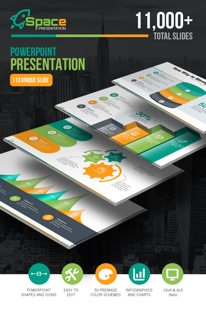 Prémium Startup Business - Presentation PowerPoint sablon 67446