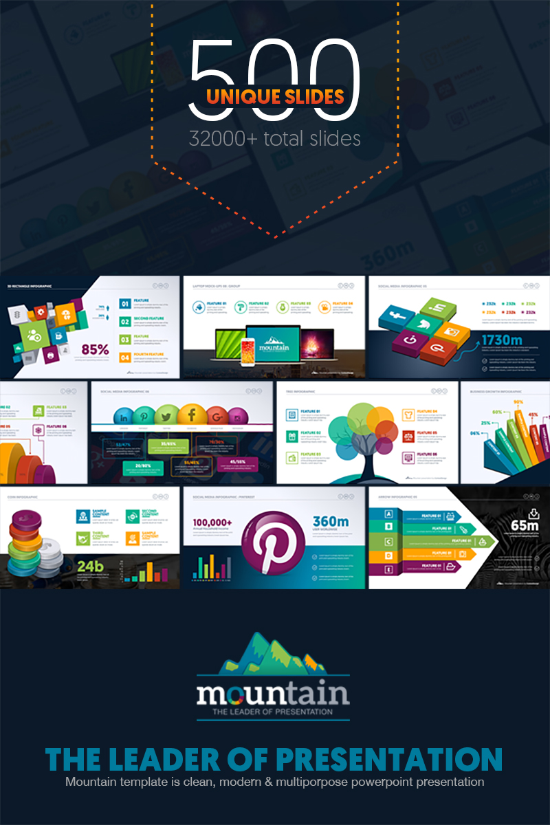 Responsivt Multipurpose Business Infographic Presentation - PowerPointmall #67443 - skärmbild