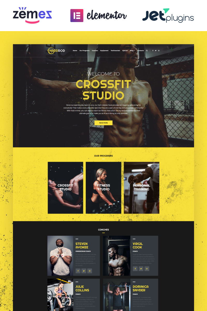Responsywny motyw WordPress Hardrod - Dynamite Fitness & Bodybuilding #67404