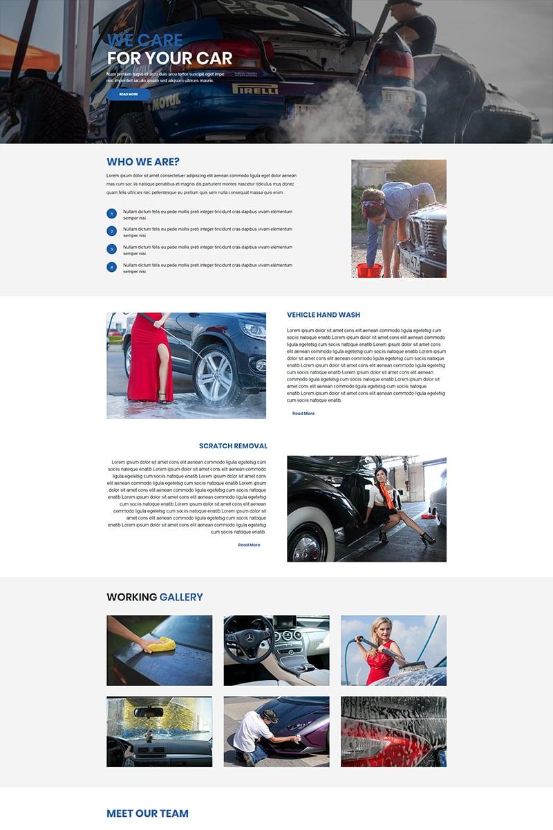 Responsywny szablon Unbounce Car Wash - #67453 - zrzut ekranu