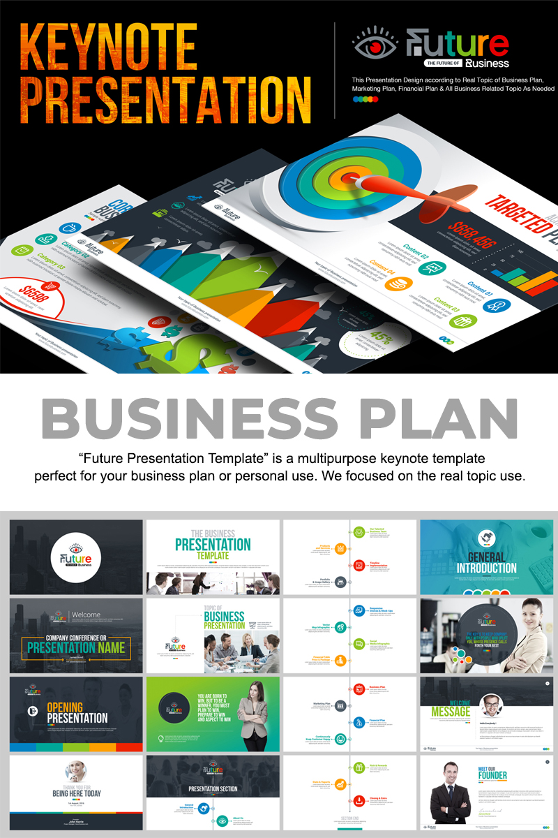 "Šablona pro Keynote ""Business Plan Presentation -"" #67445"