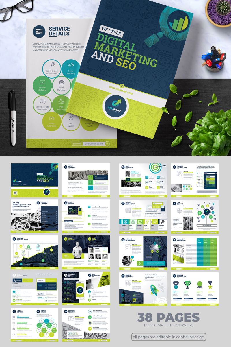 seorank bi fold brochure corporate identity template 67491
