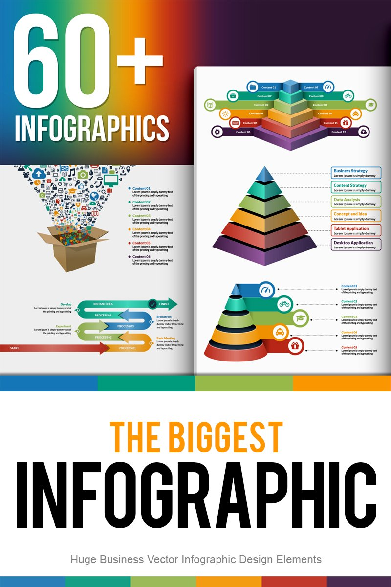 """The Biggest Bundle of Vector"" Infographic Elements №67455"