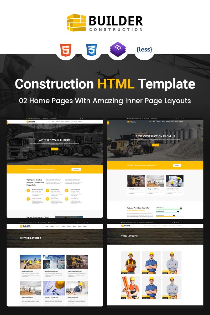 "Website Vorlage namens ""Builder - Construction Company HTML"" #67461 - Screenshot"