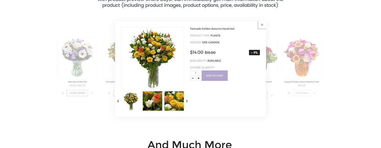 The Florist - Flower Shop Shopify Theme